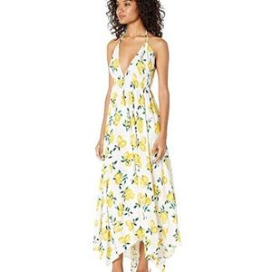 kate spade lemon halter maxi dress cu L XL